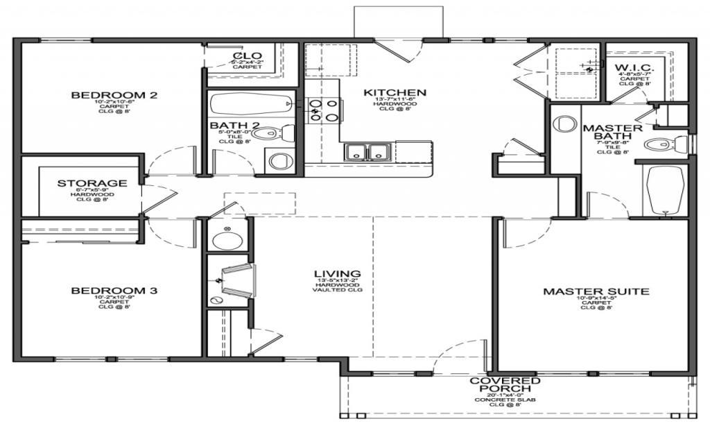 Interior design ideas with 3 bedroom tiny house plans for Small 3 bedroom house plans