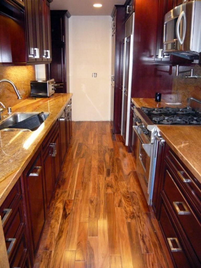 Galley Or Corridor Style. The First Interesting Option To Decorate Your Tiny  House Kitchen ...