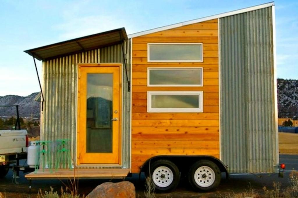 hgtv tiny house rolling with rustic style