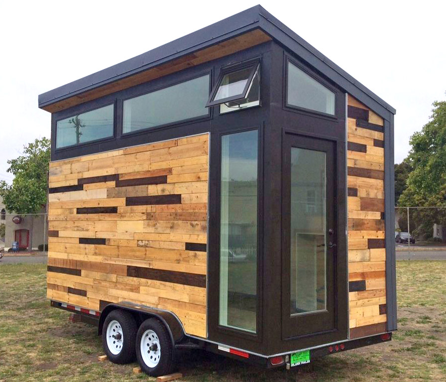 custom mobile tiny house with large kitchen and two lofts 20