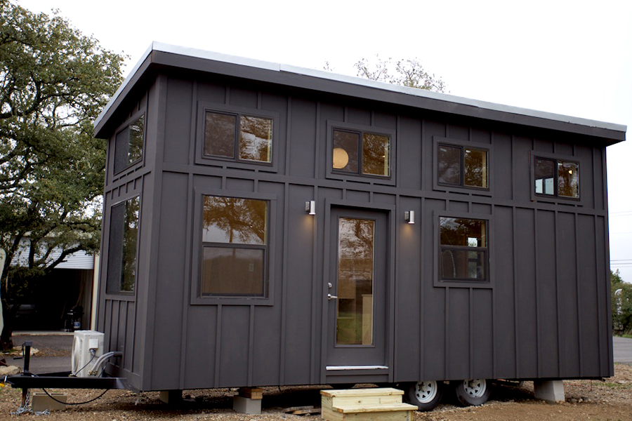 Modern tiny houses on wheels images for Contemporary tiny house