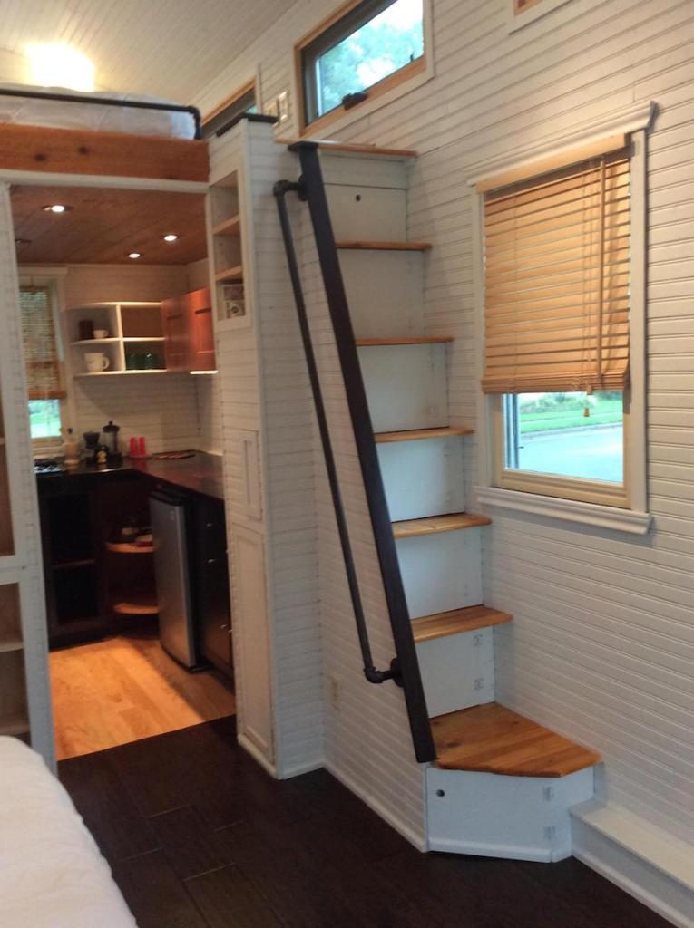 Tiny House Stairs tiny houses by darla Repurposed Staircase