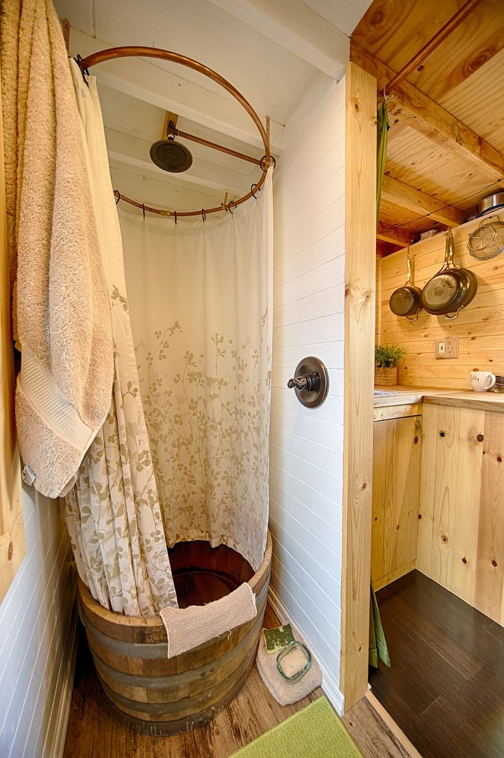 tiny house shower